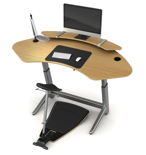 Locus Sphere Desk with Sphere Stay Flat Shelf and Locus Seat
