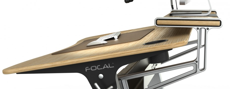Locus Standing Desk with Stay Flat Shelf