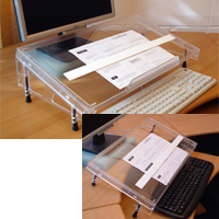 Standard Microdesk Document Holder / Writing Surface for Desktop and Keyboard Tray