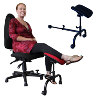 ErgoCURVE Single Leg Foot Rest