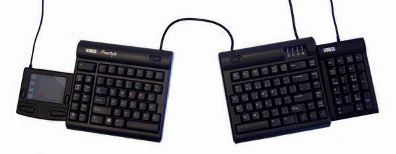 Freestyle Keyboard with Touchpad Mouse on the left and Numeric Keypad on the right