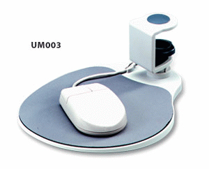Under Desk Mouse Tray, white