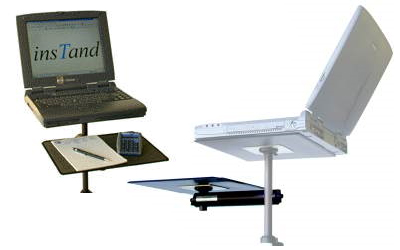 InsTand Sit/Stand Laptop Stand Side tray