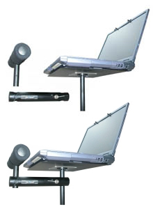 InsTand Sit/Stand Laptop Stand with wrist support