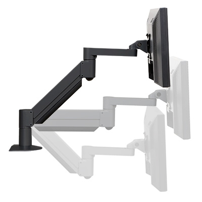 Deluxe LCD Monitor Mount - side view, different angles