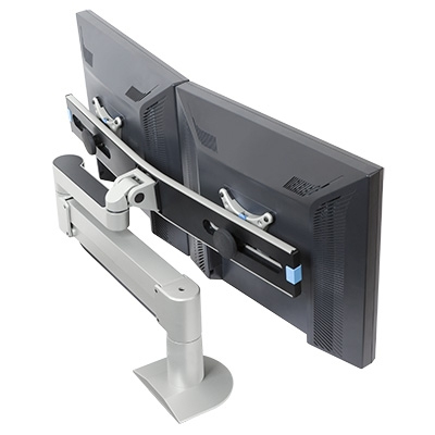 7500-Wing Dual LCD Arm - back angled view