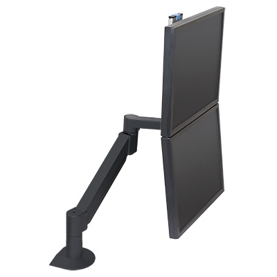 7500-Wing Dual LCD Arm - stacked vertically