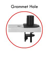 Grommet Hole Clamp Mount
