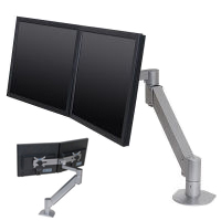 7500-Wing Dual LCD Arm with Vertical/Horizontal Positioning