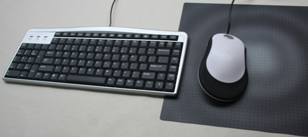 Switch Mouse (stabilizer set to right-handed) with an Evoluent Keyboard