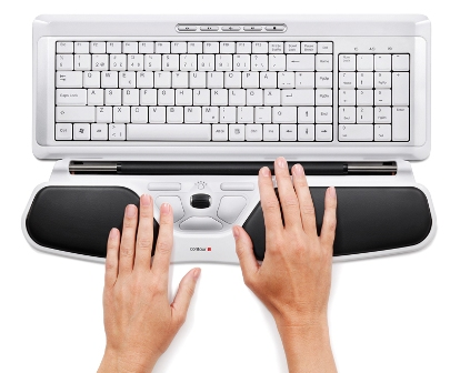 Hand, RollerMouse Free2and Keyboard positions