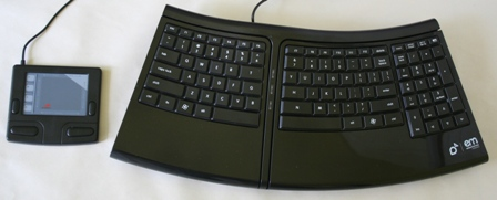 Smartfish Technologies Compact Ergomotion Keyboard + Cirque Smart Cat Trouchpad
