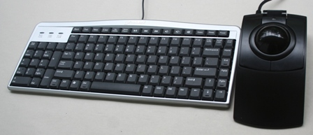 L-Trac Trackball Mouse with an Evoluent keyboard