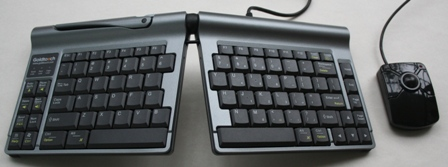 Microtrac Mouse with Goldtouch Travel Keyboard