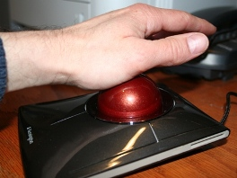 Trackball Moving with Palm