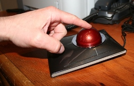 Trackball Moving with Finger