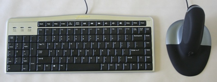Penguin Ambidextrous Mouse with Evoluent Mouse Friendly Keyboard