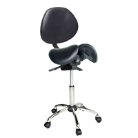 Kanewell Twin Adjustable Saddle Stool with Backrest