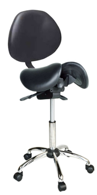 Kanewell Adjustable Saddle Stool with Backrest