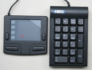 Numeric Keypad with a touchpad