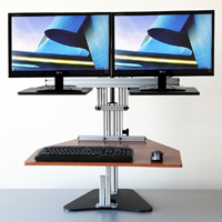 Dual Kangaroo Free Standing Adjustable Height Desk Unit
